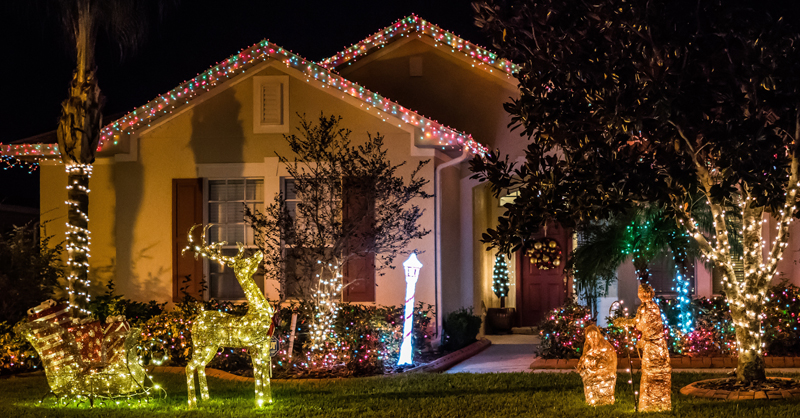 Top Ladder Choices For Hanging Christmas Lights Sunset