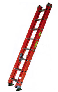 Fiberglass Extension Ladder Type 1A 300 lb Load Capacity Extension Ladder