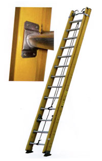Fiberglass Extension Ladder Type 1AA 375 lb Load Capacity Extension Ladder