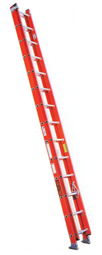 EZ Lift Lightweight Fiberglass Extension Ladder Type 1A 300 lb Load Capacity