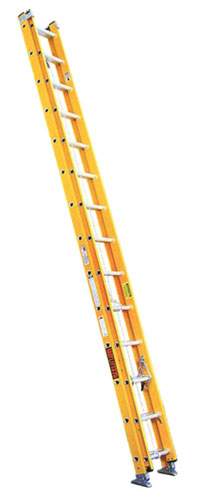 EZ Lift Lightweight Fiberglass Extension Ladder Type 1AA 375 lb Load Capacity Extension Ladder