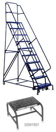 Steel Rolling Warehouse Ladders - GSW Series