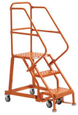 Steel Rolling Warehouse Ladders - GSX1600 Series