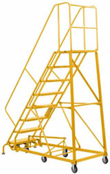 Steel Rolling Warehouse Ladders - GSX2400 Series