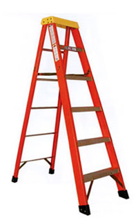 Fiberglass Type 1A Stepladder 300 lb Load Capacity