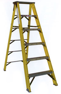 Fiberglass Type 1AA Stepladder 375 lb Load Capacity